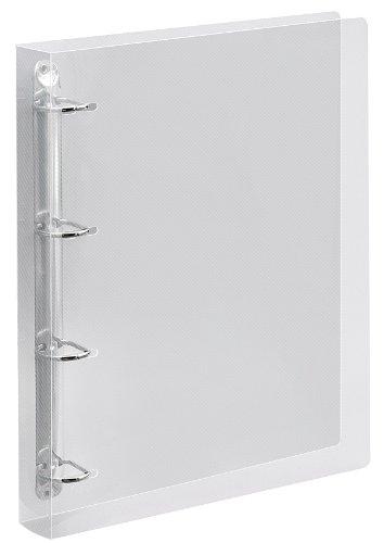 Veloflex 4145290 Ringbuch Crystal, Ringbuch, Ordner, DIN A4, 255 x 315 x 28, 4-Ring-Mechanik, transparent