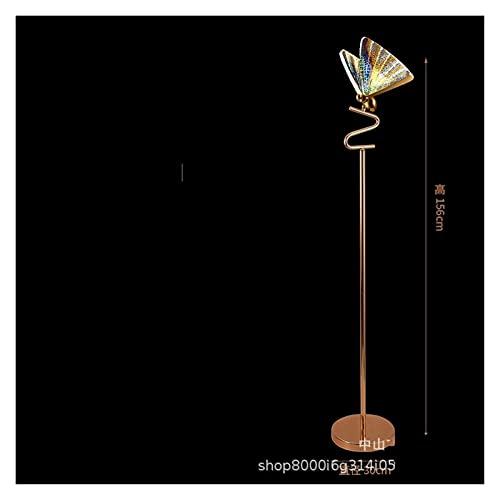 Lámpara de piso Lámpara de mesa mariposa lámpara de noche de dormitorio nórdico de la noche moderna moderna sala de estar de estudio lámpara de pie creativo diseñador modelo lámparas de habitación