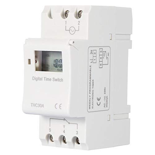 Interruptor de temporizador digital electrónico de carril DIN interruptor de tiempo programable...