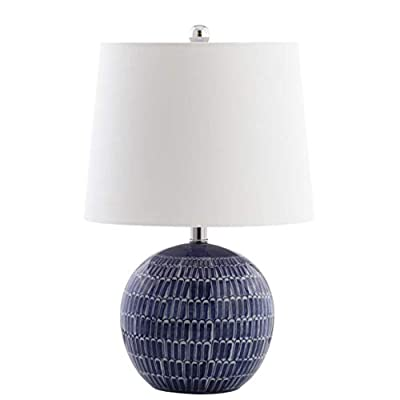 "JONATHAN Y JYL5044A Ronald 21"" Ceramic Table Lamp, Navy"