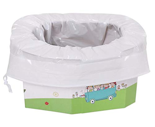 xinaishan 座れる携帯トイレ 折り畳み式 簡易 ポータブルトイレ 防災グッズ 緊急用 幼児 子供用 コンパクトトロン 5個セット+5枚凝固吸収シート (Middle)