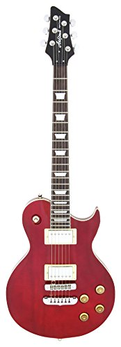 Aria PE350R Les Paul Gitaar rood