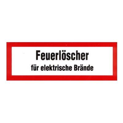 Brandschutzzeichen - Brandschutzschild Feuerlöscher für elektrische Brände 148 x 52 mm Folie