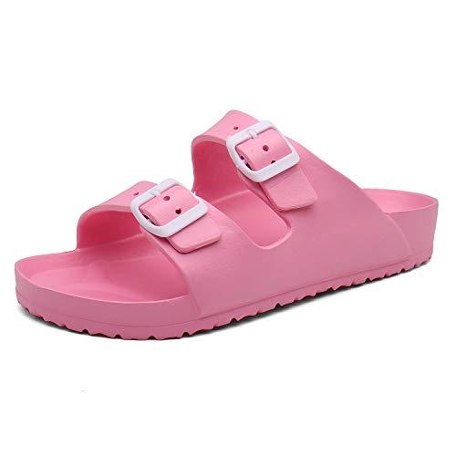 SAGUARO EVA Sandals Lightweight Comfortable Slide Sandal Slippers Pink 7 Women/6 Men