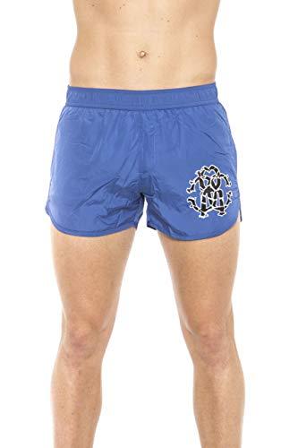 Roberto Cavalli HSH04C - Disfraz de parte inferior para hombre, azul y azul, talla M