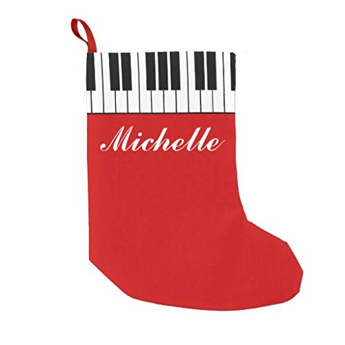 Simpson Rebecca Personalized Christmas Stocking, Funny Custom with Piano Keys Velvet Custom Christmas Stocking Xmas Stocking Ornaments for Family Decorations
