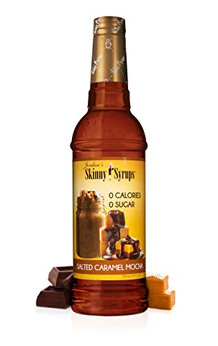 Jordan's Skinny Syrups Salted Caramel Mocha, Sugar Free Flavoring Syrup, 25.4 Ounce Bottle