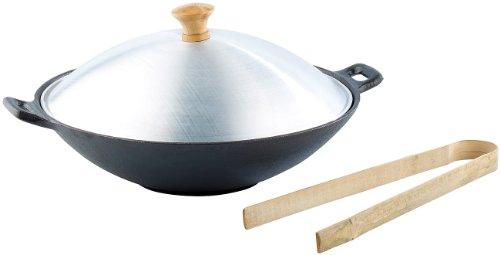 Tornwald-Schmiede Wokpfannen: Gusseisen Wok Set, 30cm (Wokpfanne Gusseisen)