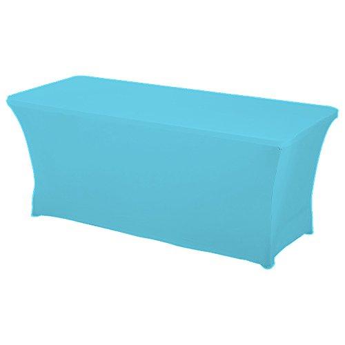 HAORUI Spandex Lycra Elástica 180×76×76cm Cubierta de Mesa Paño de Rectangular Adecuado a la Mesa de Banquetes Matrimonial Mesa de Caballetes(180 * 76 * 76cm Turquesa)
