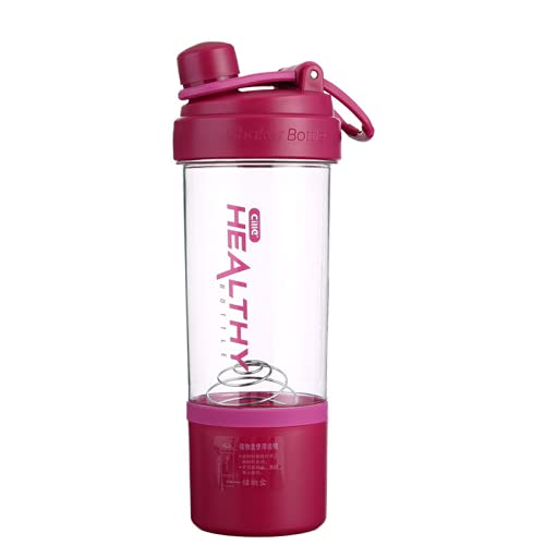 LBTM Protein Shaker Bottle Travel Cup Reusable Coffee Cups Smoothie Cup Plastic Cups With Lids Perfect For Protein Shakes Nutrition & Smoothies Red 880Milliliters