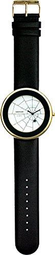 SHEPHERD 15101 Spinnenuhr goldfarben Damen Armbanduhr (große Version) 50 mm Durchmesser Quarz
