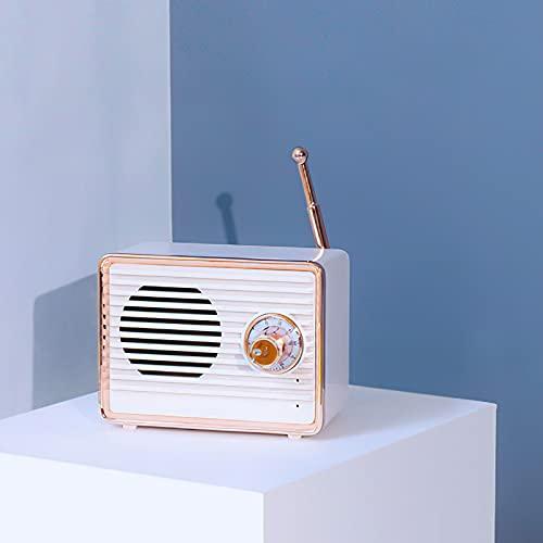 Altoparlante Bluetooth Speaker Bluetooth Wireless Mobile Cassa Speaker Stereo Impermeabile Batteria Altoparlante portatile a coppia rapida rosa retrò di forma mini (white)