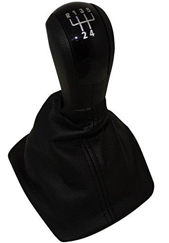 AERZETIX - C4777 - Schaltsack + schaltknauf schwarze + rahmen - 5 gänge für auto