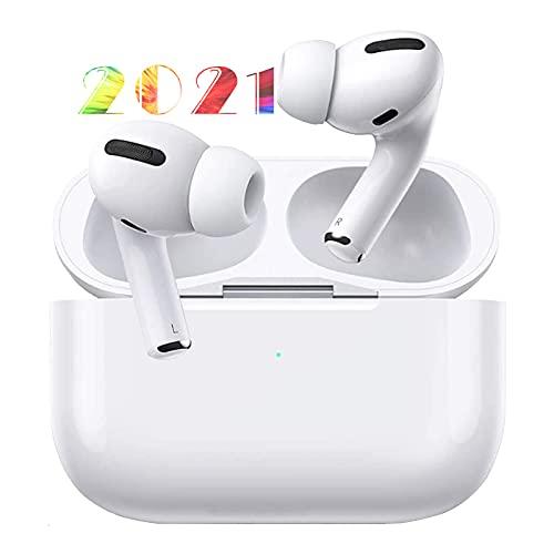 Auriculares Inalámbricos,HiFi Estéreo Auriculares Bluetooth, Auriculares con microfono,Control Táctil,Cancelación de Ruido IPX7 Impermeable Auriculares,Auriculares in Ear para iPhone/AirPods Pro