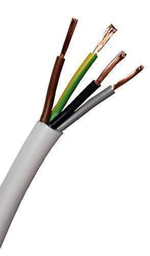 Schlauchleitung - H03VV-F 4G0,75 mm² 4x0,75 weiß - 50m Ring - Stromleitung - 50 Meter