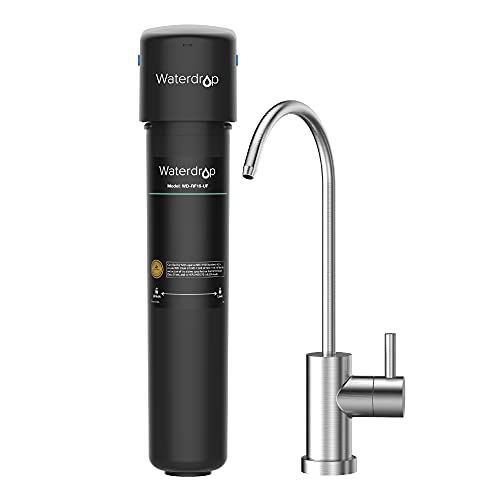 Waterdrop 15UB-UF 0.01 μm Ultra Filtration Under Sink Water Filter System for Baçtёria Reduction, NSF/ANSI 42 Certified, with Dedicated Faucet, 16K Gallons Chlorine Reduction Capacity, USA Tech