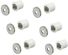 Gedotec Magneetsnapper wit meubelsnapper voor 9 mm houtboring | inboormagneet 2,5 kg houdkracht | magnetische sluiting ext...