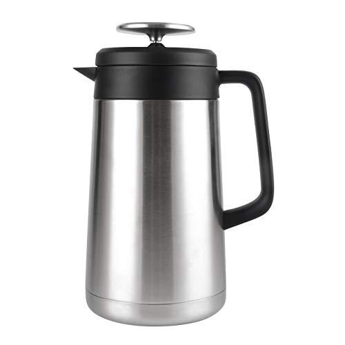 Cresimo cafetera de prensa francesa de acero inoxidable grande (1 litro), doble pared, aislamiento térmico, retención de calor al vacío, cafetera de prensa para el café y el té, gran idea de regalo