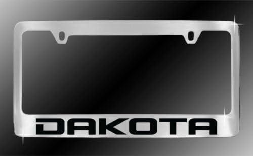 Personalized City Dodge Dakota Frame Chrome Luxury goods License Plate Bargain