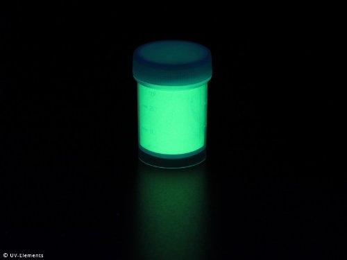 Farbechtes Nachleuchtpigment 25g - grün-gelb - Schwarzlicht, Farbpigment, UV, Neon