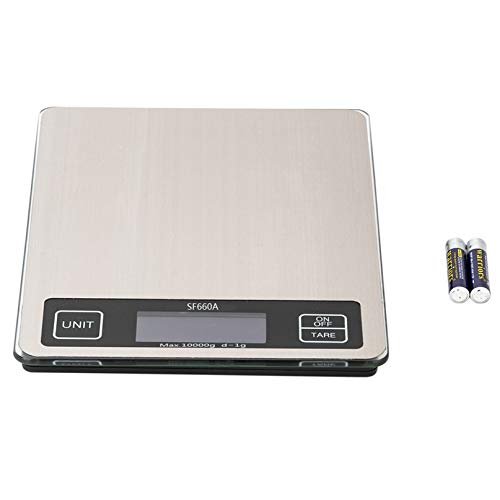 (8.7x6.7)' Platform 10kg/1g Touch Screen Multi - Unit Switch Kitchen Scale Stainless Steel Countertop Quality Food Scale, Precise Graduation for Cooking/Baking, Easy Clean