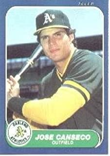 1986 Fleer Update #20 Jose Canseco Near Mint/Mint