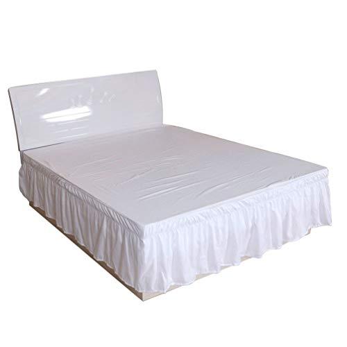 Guiran Elegant Comfort Elastische Bettumrandung, Knitterfest, Elastischen Bett Rock Bettvolants Einfarbig Cq002-35 200 * 200+40cm