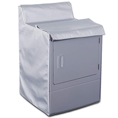 Covolo - Funda para lavadora de carga superior y frontal para exteriores, impermeable, a prueba de polvo, resistente al viento, moderadamente protector solar plateado (W29D28H40in)