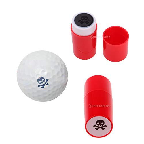 F Fityle 2 x Stamper para Pelotas de Golf Personalizado, Duradero y Secado en Segundos