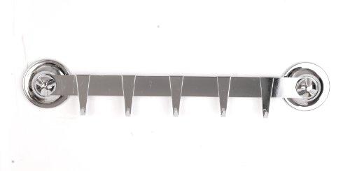 EVERLOC Allzweckreling /Hakenleiste 40 cm inkl. 5 Haken - Saugnapfhalterung