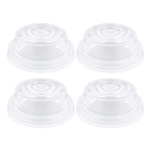 EXCEART 4 Pz Tiralatte in Silicone Elettrico Manuale Allattamento Al Latte Risparmiatore Pompa Infermieristica Aspirazione Del Latte per Neonato (Trasparente)