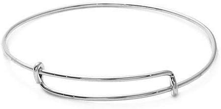 Simple 7'' Adjustable Max 50% OFF Bangle Charm High order Silver Bracelet Sterling 925
