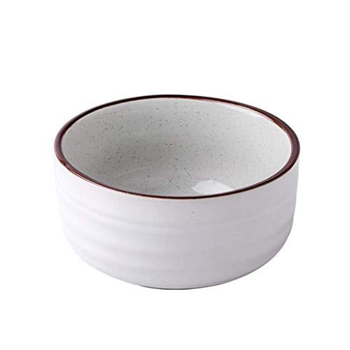 Cuenco de ensalada de frutas, 4.5 pulgadas de cerámica Cuenco de arroz de cerámica Estilo nórdico Sésamo creativo Esmalte Vajilla Hogar simple Tazón pequeño (Color: Blanco, Tamaño: 30.4x16x5.6cm)