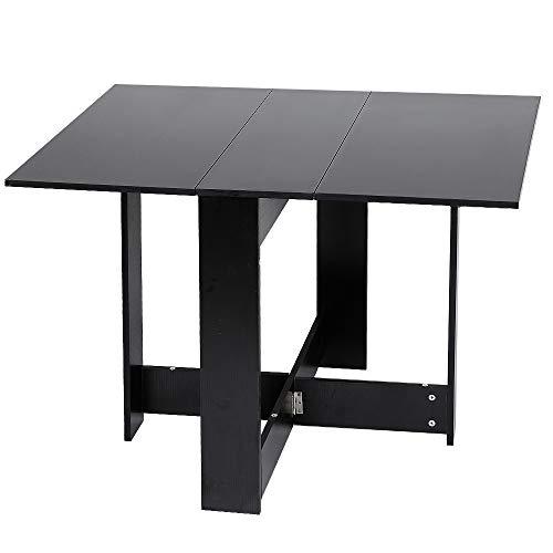 MUPAI Tavolo Pieghevole/Tavolo da Pranzo/tavoli da Cucina/scrivania - salvaspazio (Nero, 103x76x73.4cm)
