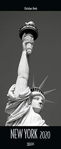New York 2020: Wandkalender in schwarz-weiß. Foto-Kunstkalender der Architektur in NY. PhotoArt Vertikal Kalender mit Silberdruck. 28,5 x 69 cm.