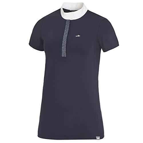 Schockemöhle Larissa - Maglietta da torneo, da donna, Moonlight Blue, XS
