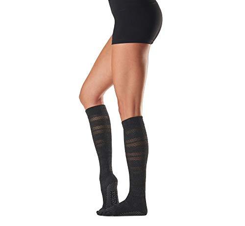 ToeSox Calcetines para mujer con puntera completa y agarre en la rodilla, para yoga, pilates