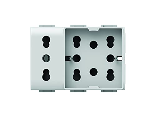 4Box 4B.AM.H21.XL Side Unika Compatibile con Bticino Matix, 250 V, Bianco