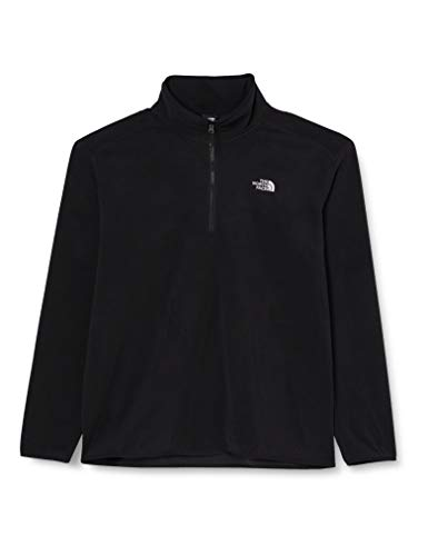 The North Face Herren 1/4 Zip Fleece-Pullover 100 Glacier, schwarz-tnf black, XXL