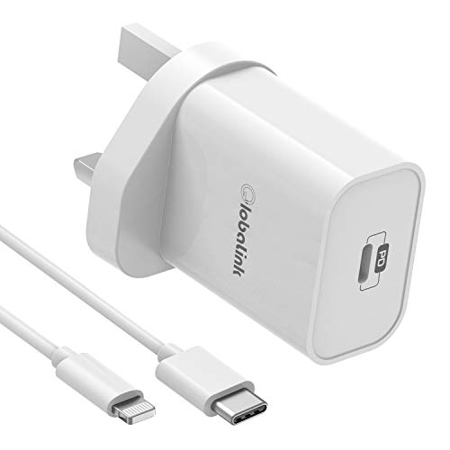 GlobaLink iPhone iPad Fast Charger, 30W USB C Wall Charger With 2M USB C to Lightning Cable PD 3.0 Fast Charging Adapter Quick Charge for iPad Pro/Air/Mini iPhone 11/11 Pro Max/X/XR/XS/8