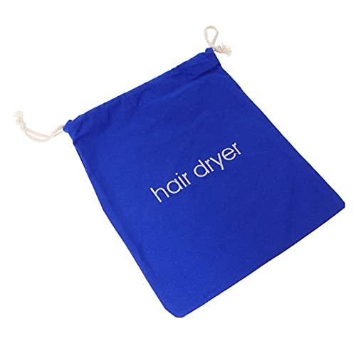 FRCOLOR Sacos para secador de cabelo com cordão, bolsa de viagem para secador de cabelo, recipiente para secador de cabelo, bolsa antipoeira com cordão azul bolsa para armazenamento de ferramentas de maquiagem para cosméticos, 30 x 28 cm