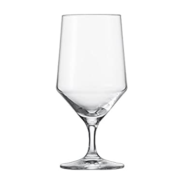 Schott Zwiesel Tritan Crystal Glass Pure Stemware Collection Water/Beverage All Purpose Glass, 15.3-Ounce, Set of 6