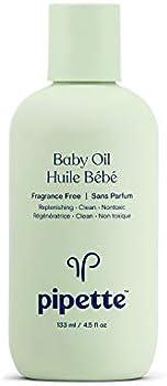 Pipette 4.5 fl oz Fragrance Free Baby Oil