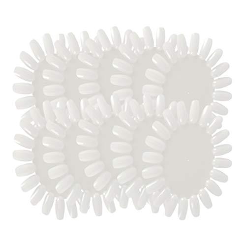 Lurrose - Confezione da 10 pezzi di ruote prova smalti, strumenti circolari per mostrare i colori, adatti per la casa o il salone di bellezza