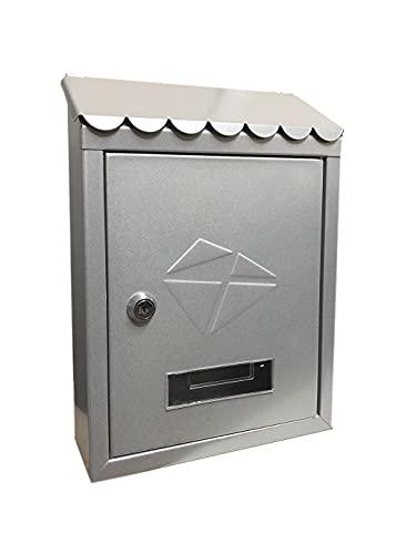 kippen 10005BS Cassetta Postale Modello Iron-Colore Silver, Dimensioni: 300x210x70 mm