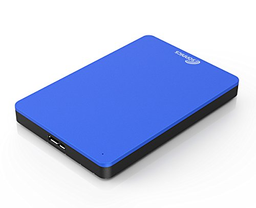Sonnics 500GB Azul Disco duro externo portátil de Velocidad de transferencia ultrarrápida USB 3.0 para PC Windows, Apple Mac, Smart TV, XBOX ONE y PS4