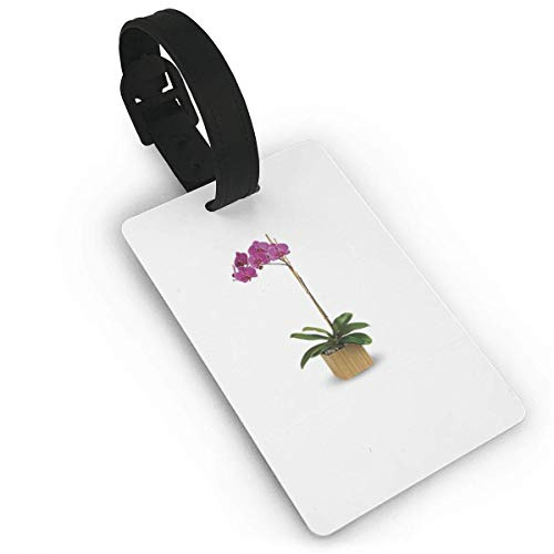 Luggage Tag Purple Orchids Print Travel Accessories Business Card Holder Quickly Spot Luggage Suitcase Cute for Boy,Girl,Man,Woman model23364