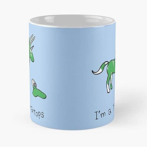 Unicorns Narwhal Narwhals Dinos Unicorn Dinosaurios Triceratops - Tazas de café blancas de cerámica de 11 oz, 15 oz