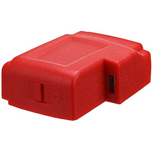 Nicejoy M18 Cargador USB Adaptador convertidor de Conector del Adaptador de Enchufe de Repuesto para Milwaukee 49-24-2371 Móviles Ipads Adaptador Cargador radios
