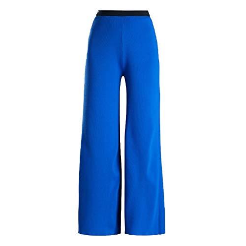 Simon Miller Womens Rian Wide-Leg Woven Trousers Cobalt Blue 2